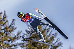 24.02.2019, Bergiselschanze, Innsbruck, AUT, FIS Weltmeisterschaften Ski Nordisch, Seefeld 2019, Skisprung, Herren, Teambewerb, Wertungssprung, im Bild Timi Zajc (SLO) // Timi Zajc of Slovenia during the competition jump for the men's skijumping Team competition of FIS Nordic Ski World Championships 2019 at the Bergiselschanze in Innsbruck, Austria on 2019/02/24. EXPA Pictures © 2019, PhotoCredit: EXPA/ Stefanie Oberhauser