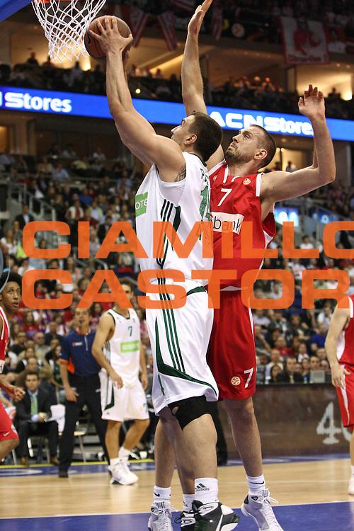 DESCRIZIONE : Berlino Eurolega 2008-09 Final Four Semifinale Olimpiacos Panathinaikos Atene<br /> GIOCATORE : Nikola Pekovic<br /> SQUADRA : Panathinaikos Atene <br /> EVENTO : Eurolega 2008-2009 <br /> GARA : Olimpiacos Panathinaikos Atene<br /> DATA : 01/05/2009 <br /> CATEGORIA : Tiro<br /> SPORT : Pallacanestro <br /> AUTORE : Agenzia Ciamillo-Castoria/C.De Massis