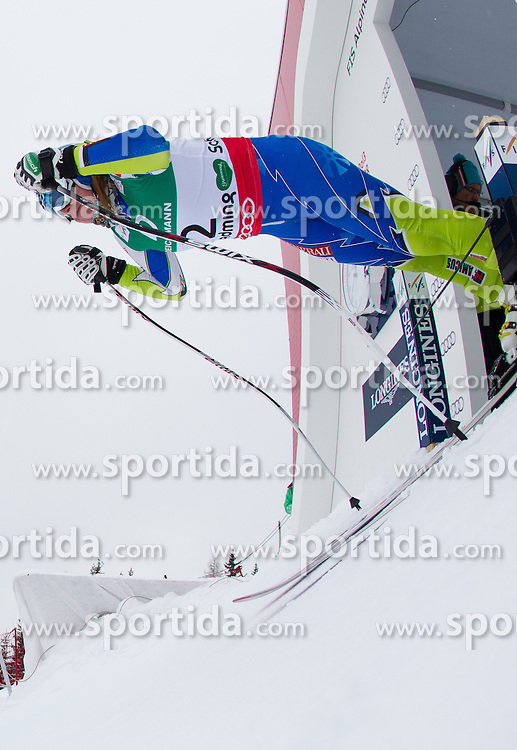 07.02.2013, Planai, Schladming, AUT, FIS Weltmeisterschaften Ski Alpin, 2. Training, Abfahrt, Damen, im Bild Marusa Ferk (SLO) // Marusa Ferk of Slovenia in action during 2nd practice of the ladies Downhill at the FIS Ski World Championships 2013 at the Planai Course, Schladming, Austria on 2013/02/07. EXPA Pictures © 2013, PhotoCredit: EXPA/ Johann Groder