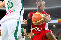 Omar Cook of Montenegro at friendly match between Slovenia and Montenegro for Adecco Cup 2011 as part of exhibition games before European Championship Lithuania on August 7, 2011, in SRC Stozice, Ljubljana, Slovenia. (Photo by Urban Urbanc / Sportida)