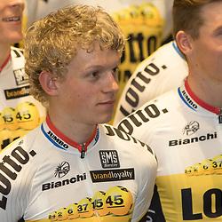 08-01-2016: Wielrennen: Presentatie Lotto Jumbo: Den Bosch<br /> 's-HERTOGENBOSCH (NED) wielrennen<br /> Team Lotto-Jumbo werd gepresenteerd op het HQ van Brand Loyalty <br /> Coen Bouwman (Ulft_