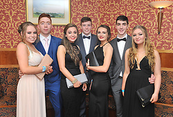 Pictured at the recent Tranistion Year Ball held at Hotel Westport<br /> Shauna Keane, Liam Hanley, Carla Ryan, Kevin Ryder, Rebecca Heraty, Keith Joyce and Lucy Pelham-Burn.<br /> Pic Conor McKeown