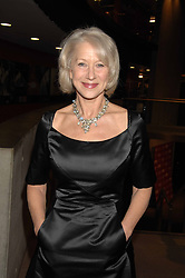 DAME HELEN MIRREN at Fast Forward - a fund-raising party for the National Theatre held at The Roundhouse, London NW1 on 1st March 2007.<br /><br />NON EXCLUSIVE - WORLD RIGHTS