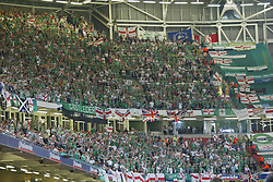 CARDIFF, WALES - Wednesday, September 8, 2004: Northern Ireland supporters during the Group Six World Cup Qualifier against Wales at the Millennium Stadium. (Pic by David Rawcliffe/Propaganda)