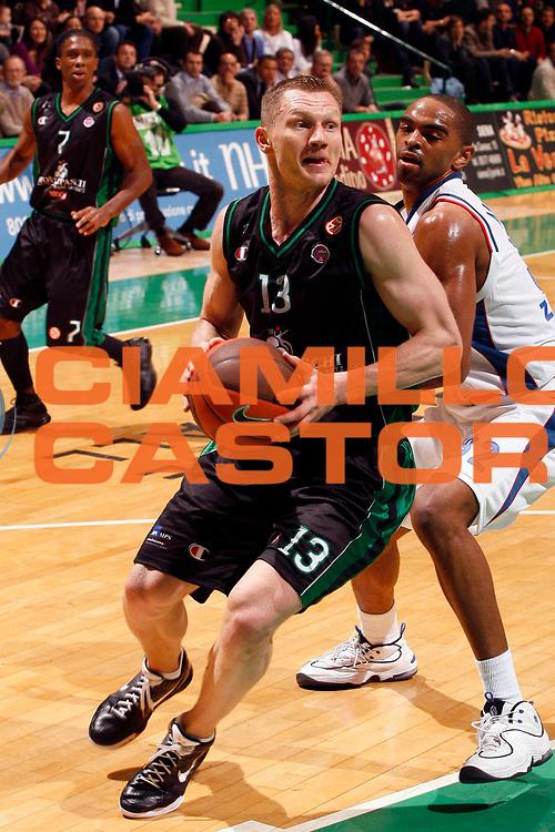 DESCRIZIONE : Siena Eurolega 2008-09 Top 16 Montepaschi Siena Cibona Zagabria<br /> GIOCATORE : Kaukenas Rimantas <br /> SQUADRA : Montepaschi Siena<br /> EVENTO : Eurolega 2008-2009<br /> GARA : Montepaschi Siena Cibona Zagabria<br /> DATA : 05/03/2009<br /> CATEGORIA : Penetrazione<br /> SPORT : Pallacanestro<br /> AUTORE : Agenzia Ciamillo-Castoria/P.Lazzeroni<br /> Galleria : Eurolega 2008-2009<br /> Fotonotizia : Siena Eurolega 2008-09 Montepaschi Siena Cibona Zagabria<br /> Predefinita :