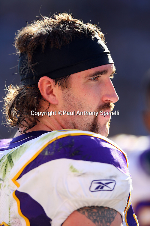 Minnesota Vikings defensive end Jared Allen (69) looks on during the NFL football game against the Pittsburgh Steelers, October 25, 2009 in Pittsburgh, Pennsylvania. The Steelers won the game 27-17. (©Paul Anthony Spinelli)