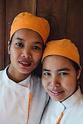 Chefs Sok Kimsan (L.) and Pol Kimsan (R.) at Embassy restuarant, Siem Reap