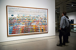 © Licensed to London News Pictures. 24/01/2018. London, UK. Photograph titled 90 Cent II, 1999/2009, by artist ANDREAS GURSKY is on display as part the first major UK retrospective of the German photographer. The showcase also marks the Haywood galleries 50th anniversary following its two year refurbishment. Photo credit: Ray Tang/LNP
