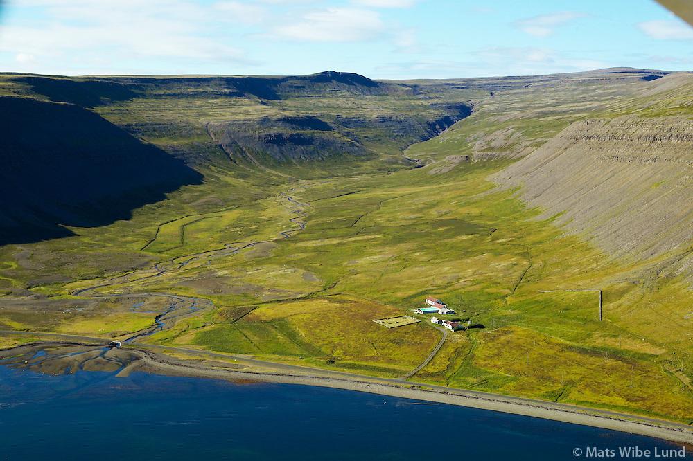 Otradalur, Suðurfjarðarhreppur, Arnarfjörður, Vesturbyggð. /.Otradalur, Sudurfjardarhreppur, Arnarfjordur, Vesturbyggd