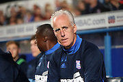 Ipswich Town manager Mick McCarthy during the EFL Sky Bet Championship match between Ipswich Town and Brighton and Hove Albion at Portman Road, Ipswich, England on 27 September 2016.