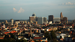September 3, 2017 - Cincinnati, Ohio, U.S - The Downtown Cincinnati area as seen on Sep 4, 2017. Showing the Macys ,Kroger, and the Great American Financial Group  Building . As seen from Clifton,Ohio. (Credit Image: © Ernest Coleman via ZUMA Wire)