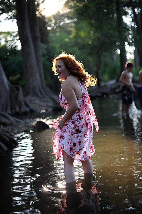 Shavonne and Thi photographed Wednesday June 15, 2011 at Cibolo Creek in Boerne, TX. Photo©Bahram Mark Sobhani