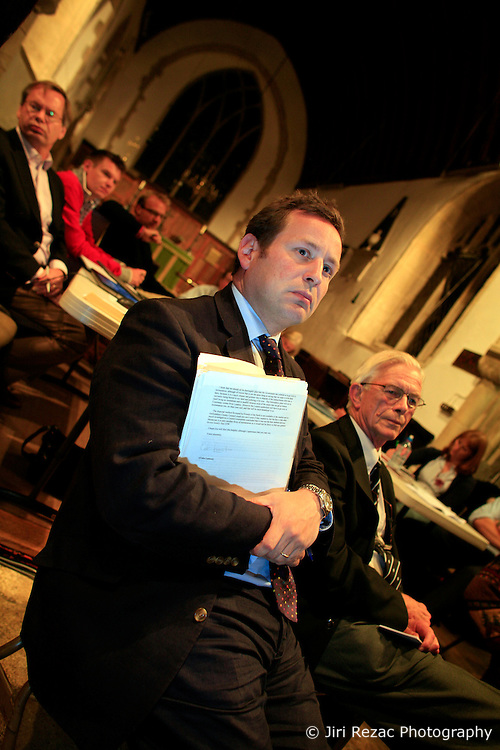 UK ENGLAND OXFORDSHIRE SUTTON COURTENAY  15SEP08 - Conservative MP Ed Vaizey attends a parish council meeting at the village of Sutton Courtenay to discuss residents' concerns about a planned incinerator near the village...jre/Photo by Jiri Rezac..© Jiri Rezac 2008..Contact: +44 (0) 7050 110 417.Mobile:  +44 (0) 7801 337 683.Office:  +44 (0) 20 8968 9635..Email:   jiri@jirirezac.com.Web:    www.jirirezac.com..© All images Jiri Rezac 2008 - All rights reserved.