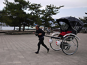 Japan, Miyajima, Itsukushima Temple Rickshaw