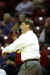18 January 2007: Porter Moser reacts to an officials call. The Shockers of Wichita State were shut off by the Redbirds by a score of 83-75 at Redbird Arena in Normal Illinois on the campus of Illinois State University.
