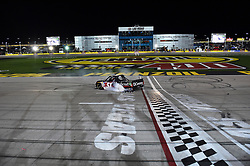 March 1, 2019 - Las Vegas, NV, U.S. - LAS VEGAS, NV - MARCH 01: Kyle Busch (51) KBM Toyota Tundra celebrates the race win with a burnout during the NASCAR Gander Outdoors Truck Series Strat 200 on March 01, 2019, at Las Vegas Motor Speedway in Las Vegas, NV. (Photo by Chris Williams/Icon Sportswire) (Credit Image: © Chris Williams/Icon SMI via ZUMA Press)