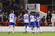 The Royals celebrates after scoring a goal to make it 0-1 during the EFL Sky Bet Championship match between Nottingham Forest and Reading at the City Ground, Nottingham, England on 20 February 2018. Picture by Jon Hobley.