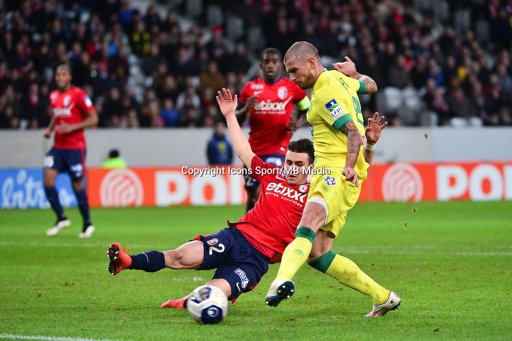 Vincent BESSAT / Sebastien CORCHIA - 14.01.2014 - Lille / Nantes - 1/4Finale Coupe de la Ligue<br />Photo : Dave Winter / Icon Sport