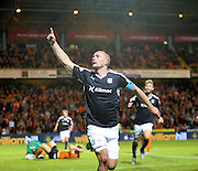 James McPake celebrates after scoring with the last kick of the ball - Dundee United v Dundee at Tannadice<br /> - Ladbrokes Premiership<br /> <br />  - &copy; David Young - www.davidyoungphoto.co.uk - email: davidyoungphoto@gmail.com