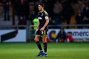 Wimbledon defender Will Nightingale (5)  during the The FA Cup 3rd round match between Fleetwood Town and AFC Wimbledon at the Highbury Stadium, Fleetwood, England on 5 January 2019.