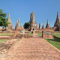 Buddhist temple complex Wat Chai Watthanaram in Ayutthaya.