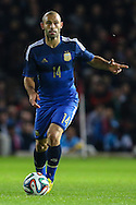 Javier Mascherano of Argentina during the International Friendly match at the Boleyn Ground, London<br /> Picture by David Horn/Focus Images Ltd +44 7545 970036<br /> 12/11/2014