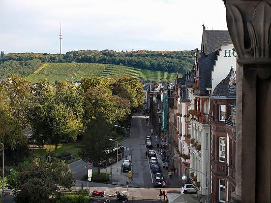 Duitsland, Trier, 21-10-2013Stad in de Eifel met rijke romeinse geschiedenis.Rand van de stad met wijnvelden,druivenstokken,druiventeelt,moesel,mosel,moezel,wijnbouw,wijn,witte, vanuit de porta nigra. Helling.bezienswaardigheid,attractie,trekpleister,monument,landmarkFoto: Flip Franssen/Hollandse Hoogte