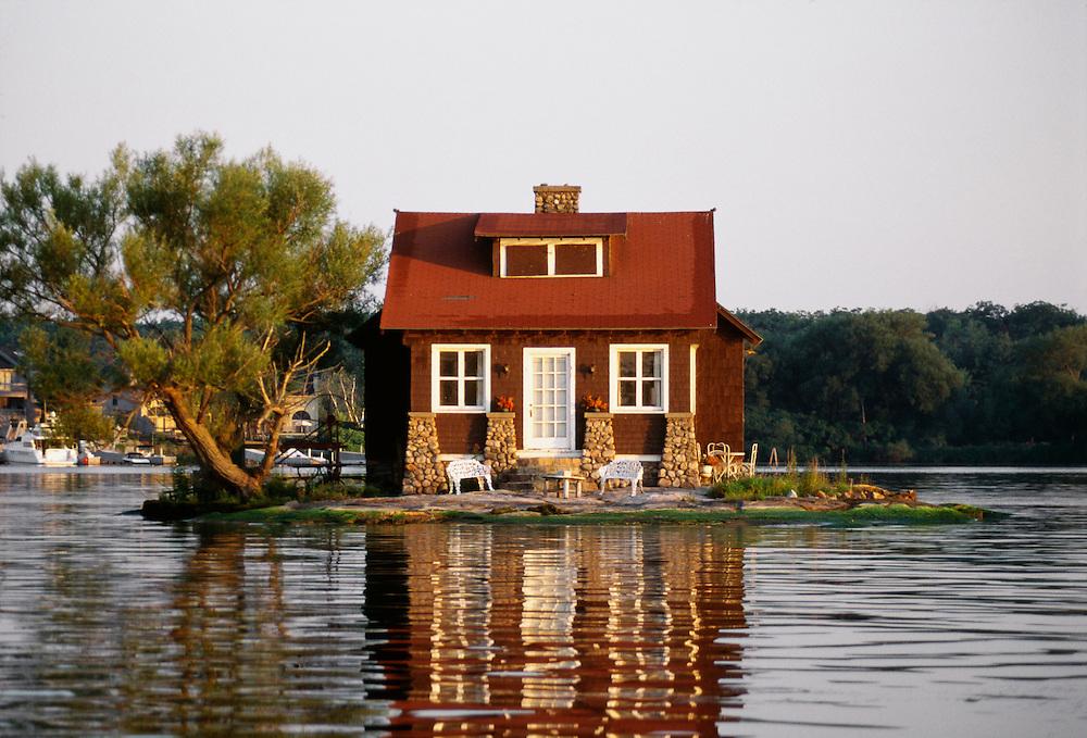 One house island, Thousand Islands, New York.