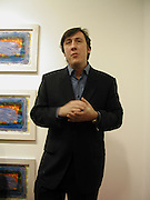 Andrew Graham-dixon, Private view of 40 limited edition prints especially created by Howard Hodgkin for Elton John AIDS Foundation, Alan Christea Gallery, 6 February 2003. All proceeds from the evening benefit Elton John AIDS Foundation.© Copyright Photograph by Dafydd Jones 66 Stockwell Park Rd. London SW9 0DA Tel 020 7733 0108 www.dafjones.com