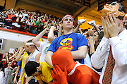 Jonathan Miano/Staff photographer Naperville Sun/Sun Times Media.20100316 Hinsdale..Benet Academy fans react to a Simeon point in Benet's 58-50 loss to Simeon Career Academy in the boys super-sectional at Hinsdale Central High School in Hinsdale Tuesday.
