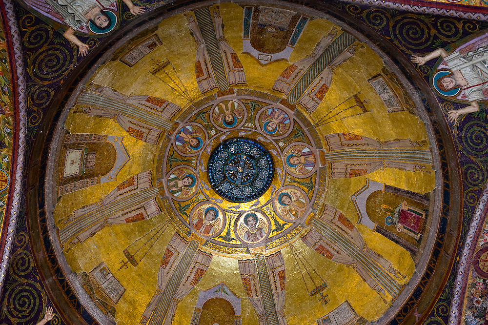 Dome, Church of All Nations (Basilica of the Agony), Mount of Olives, Jerusalem, Israel.