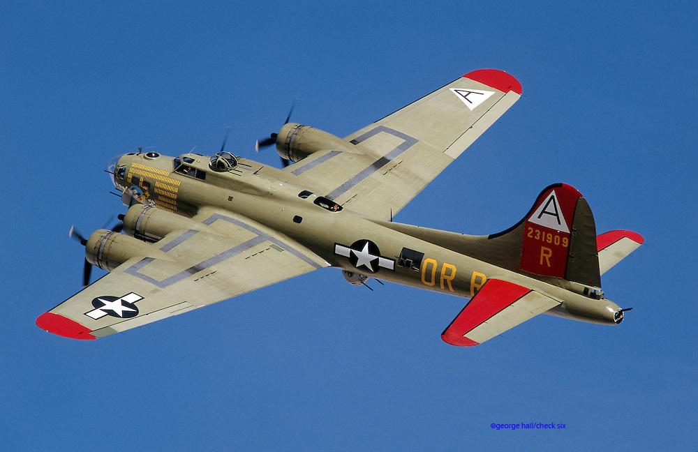 B17G Bomber air-to-air.