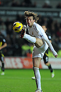 Swansea city player Michu in action. Barclays Premier league, Swansea city v Norwich city at the Liberty Stadium in Swansea, South Wales on Saturday 8th Dec 2012. pic by Andrew Orchard, Andrew Orchard sports photography,