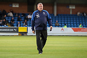 AFC Wimbledon manager Wally Downes walking onto pitch during the EFL Trophy (Leasing.com) match between AFC Wimbledon and U23 Brighton and Hove Albion at the Cherry Red Records Stadium, Kingston, England on 3 September 2019.