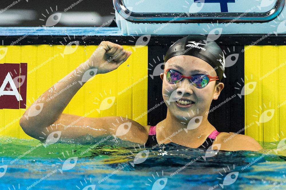 WATANABE Kanako JPN Gold Medal<br /> Women's 200m Breaststroke Final<br /> Doha Qatar 07-12-2014 Hamad Aquatic Centre, 12th FINA World Swimming Championships (25m). Nuoto Campionati mondiali di nuoto in vasca corta.<br /> Photo Giorgio Scala/Deepbluemedia/Insidefoto