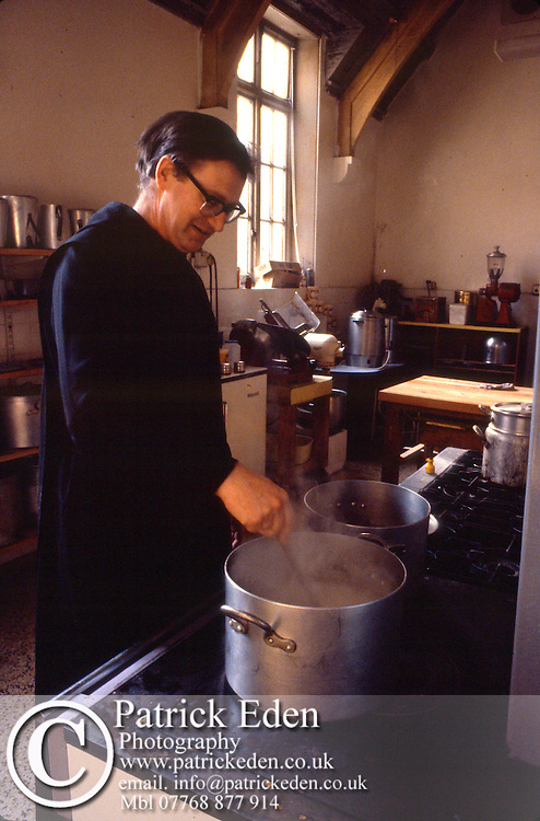 Archive, Photographs, of life at, Quarr Abbey, Ryde, Isle of Wight, England, UK, in the, 1982, photograph photography