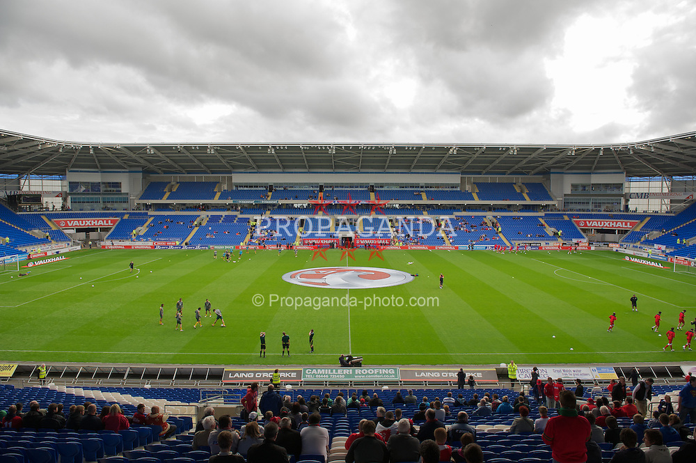 CARDIFF, WALES - Wednesday, August 10, 2011: The Cardiff City Stadium before an  International Friendly match between Wales and Australia. (Photo by David Rawcliffe/Propaganda)