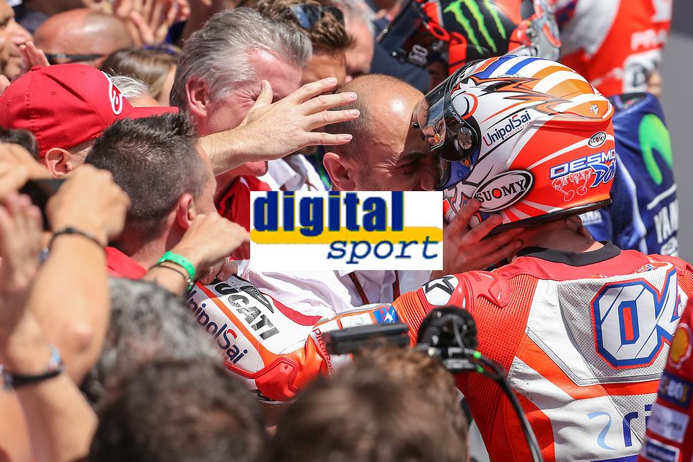 Ducati's Team rider Italian Andrea Dovizioso, winner  the Moto GP Grand Prix at the Mugello race track on June 4, 2017.<br /> Photo by Danilo D'Auria.<br /> Danilo D'Auria/UK Sports Pics Ltd/Alterphotos