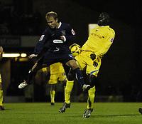 Photo: Olly Greenwood.<br />Southend United v Preston North End. Coca Cola Championship. 11/11/2006. Southend's Luke Guttridge and Preston's Patrick Agyemang