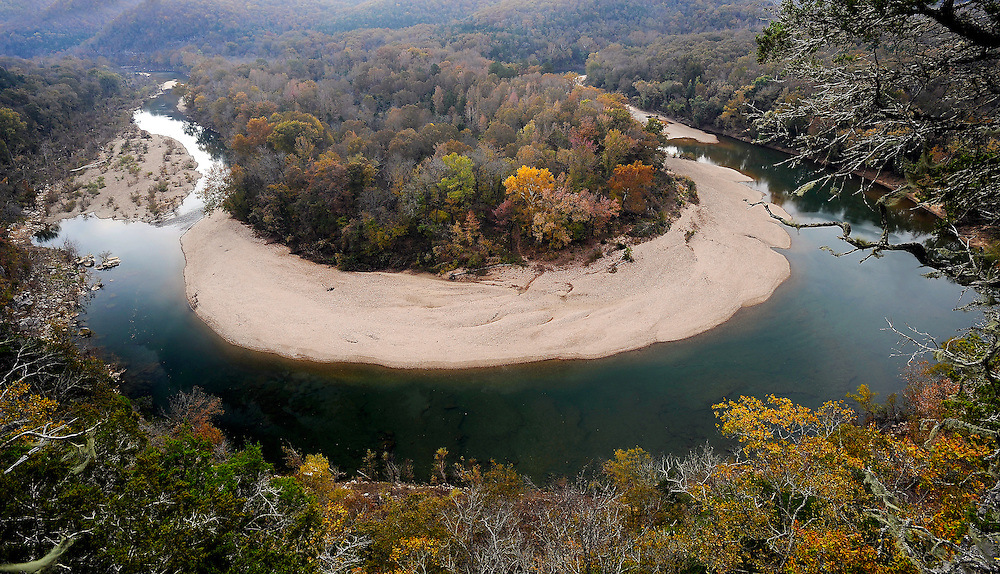 Buffalo River bend, Red Bluff, Buffalo National River, Arkansas.
