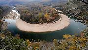 Buffalo River bend, Red Bluff, Buffalo National River, Arkansas.