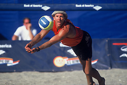 FIVB Professional Beach Volleyball - Olympic Festival - Central Park, New York, NY - 1998 - Sinjin Smith -  Photo by Wally Nell/Volleyball Magazine