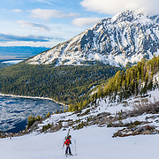 Troy Cobb on apprach to Mount Moran summit in the Grand Teton National Park