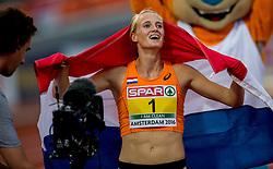 09-07-2016 NED: European Athletics Championships day 4, Amsterdam<br /> Anouk Vetter pakt de gouden medaille op de zevenkamp