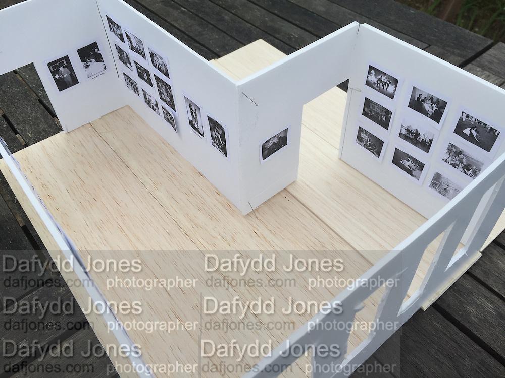 Scale model for Dafydd Jones Exhibition in a Box. Bermondsey Project Space. London. 2016.