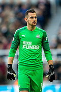 Martin Dubravka (#1) of Newcastle United during the Premier League match between Newcastle United and Manchester City at St. James's Park, Newcastle, England on 30 November 2019.