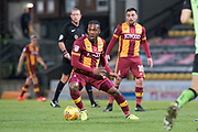 Bradford City Forward Dominic Poleon (11) in action during the EFL Sky Bet League 1 match between Bradford City and Plymouth Argyle at the Northern Commercials Stadium, Bradford, England on 11 November 2017. Photo by Craig Zadoroznyj.