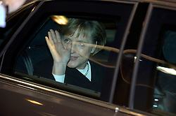 Angela Merkel, the newly elected Chancellor of Germany, arrives at NATO headquarters in Brussels, Belgium on November 23, 2005. Merkel was received by Jaap de Hoop Scheffer, Secretary General of NATO. (Photo © Jock Fistick)
