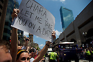 June 18, 2011, Boston, MA - A fan holds up a sign asking Bruins Captain Zdeno Chara on a date. Photo by Lathan Goumas.
