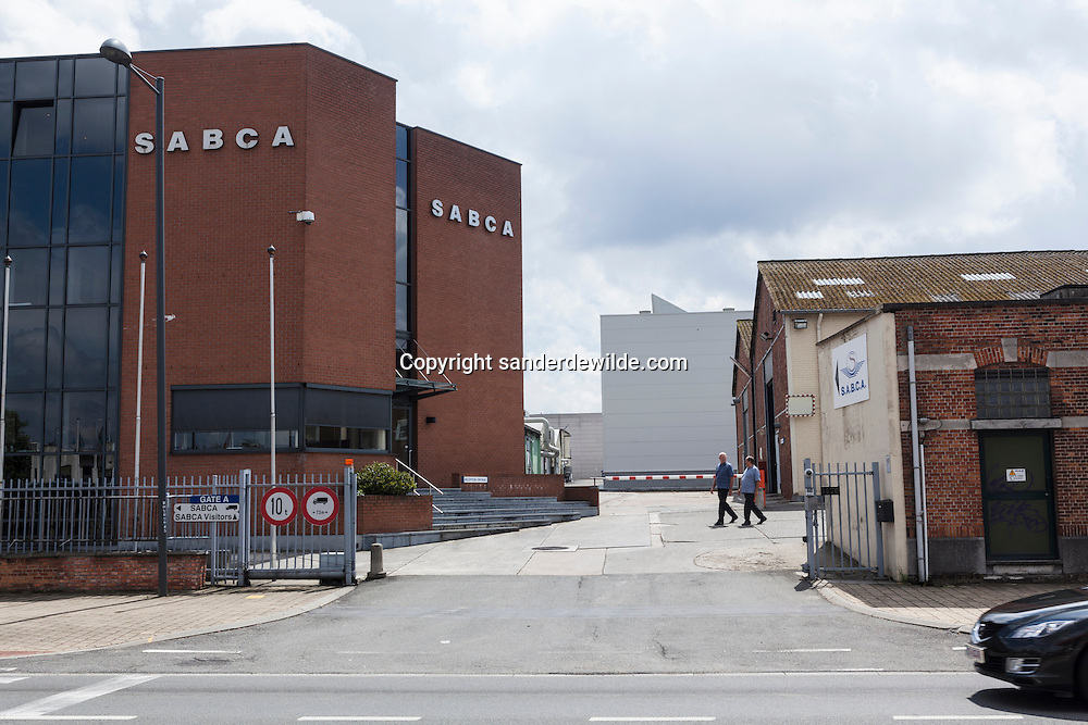 Hoofdingang S.A.B.C.A. factory in Brussels works for  the IXV project (European Space Agency, esa). newest entrance of SABCA Factory.Chaussée de Haecht  1470